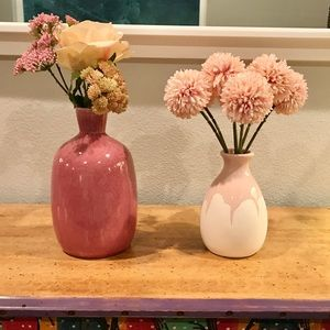 Pair of Pink Vases - C&B and Isaac Mizrahi